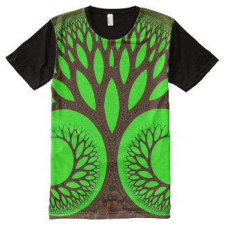 Tree 2 Abstract Fine Fractal All-Over-Print T-Shirt