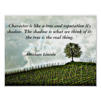 Tree Abraham Lincoln Quote Poster Art Print