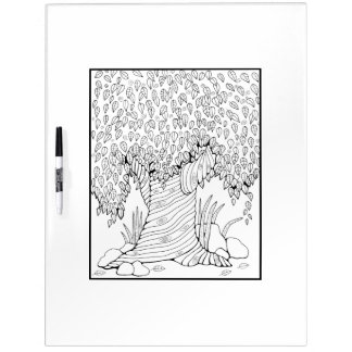 Tree Adult Coloring Dry-Erase Board