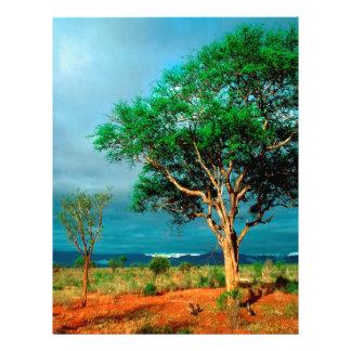 Tree African Landscape Letterhead Template