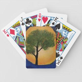 Tree against the Sun Bicycle Playing Cards