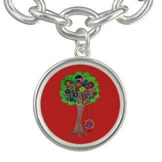 Tree and Bat Bracelet (Silver Plate) USA