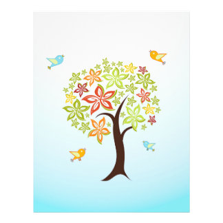 Tree and birds flyer