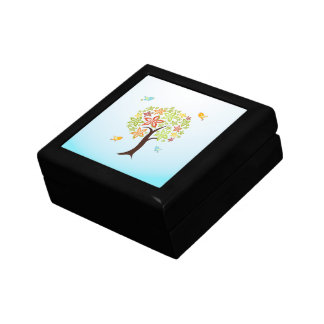 Tree and birds gift box