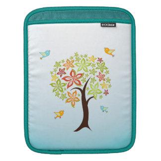 Tree and birds iPad sleeve