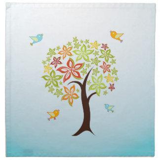 Tree and birds napkin