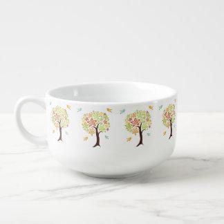 Tree and birds soup mug