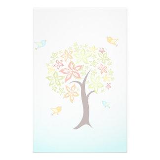 Tree and birds stationery