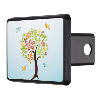 Tree and birds trailer hitch cover