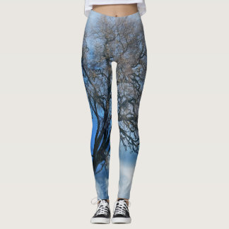 Tree and Blue Cloud Leggings