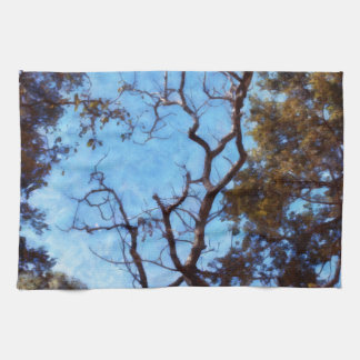 Tree and blue sky kitchen towel