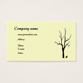 Tree and Bunny Silhouette Business Card