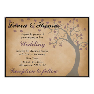 Tree and Hearts Wedding Invitation