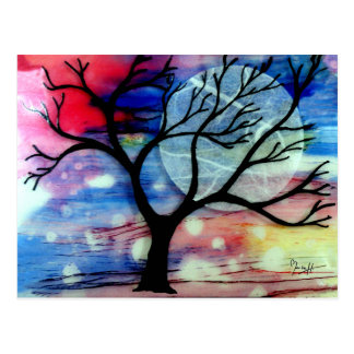 Tree and Ink Transparent Layers Postcard