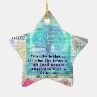 Tree and Nature Art Collage with Emerson Inspirati Ceramic Star Ornament