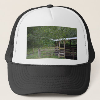 tree and old barn florida photo trucker hat
