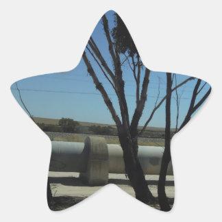 Tree and Pipeline Design Star Sticker