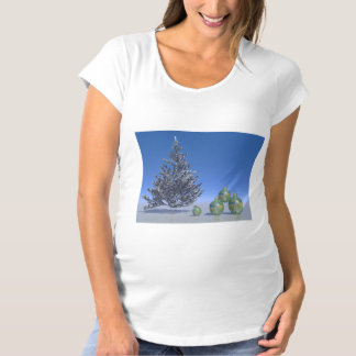 tree and snow and christmas maternity T-Shirt