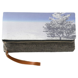 tree and snow white clutch