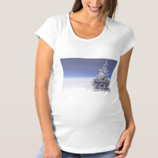tree and snow white maternity T-Shirt