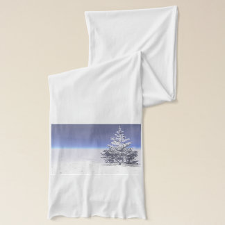 tree and snow white scarf