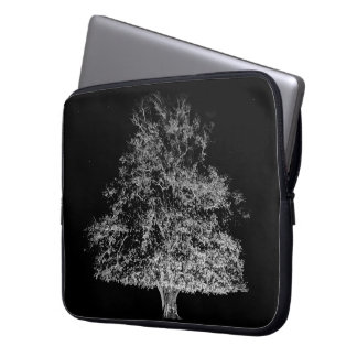Tree and stars black and white photograph case computer sleeve