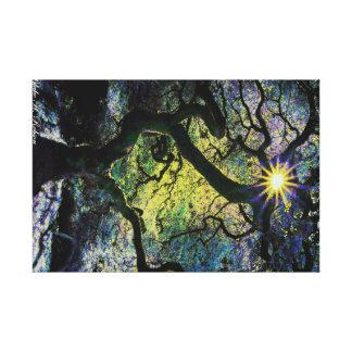 tree and sunshine artwork b canvas print