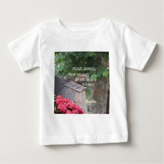 Tree and wall with Budha message Baby T-Shirt