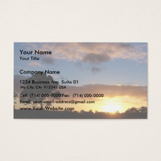 Tree At Sunrise Business Card