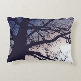 Tree at Sunset Decorative Pillow