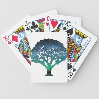 Tree Aurora Bicycle Playing Cards