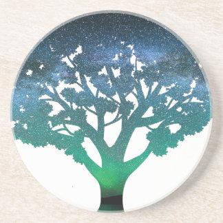 Tree Aurora Drink Coasters