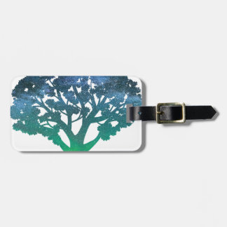 Tree Aurora Luggage Tag