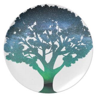 Tree Aurora Plate