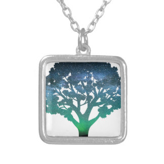 Tree Aurora Silver Plated Necklace