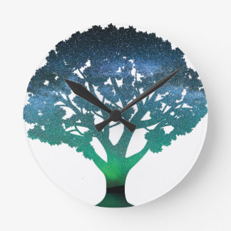 Tree Aurora Wall Clock