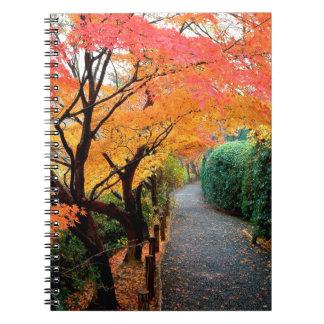Tree Autumn Colors Japan Notebook