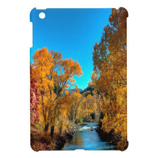 Tree Autumn Leaves River iPad Mini Case