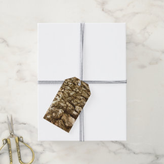 Tree Bark II Natural Abstract Textured Design Gift Tags