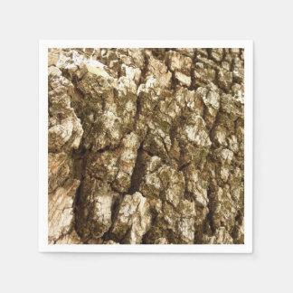 Tree Bark II Natural Abstract Textured Design Paper Napkin