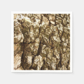 Tree Bark II Natural Abstract Textured Design Paper Napkins