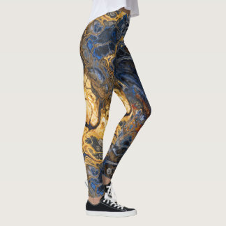 Tree Bark Marbled Abstract 2 Leggings