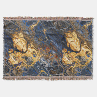 Tree Bark Marbled Abstract 2 Throw Blanket