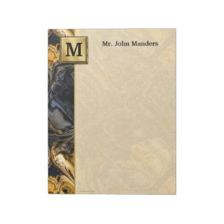 Tree Bark Marbled Abstract Notepads