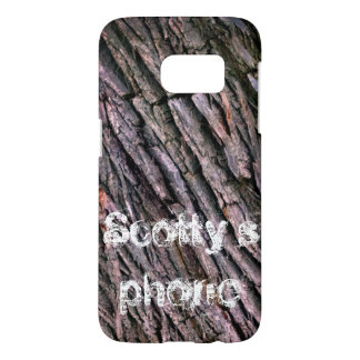 Tree bark  - monogrammed samsung galaxy s7 case