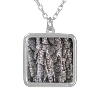 Tree Bark Photography Silver Plated Necklace