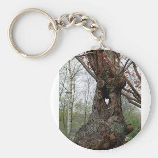 Tree Basic Round Button Keychain