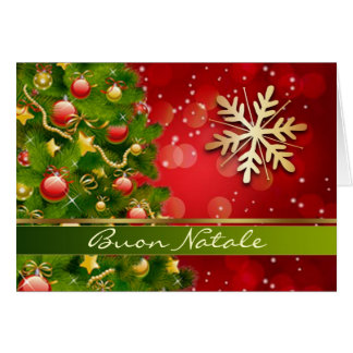 Tree baubles snowflake Italian Christmas Card