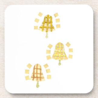 Tree Bell Plastic Coasters
