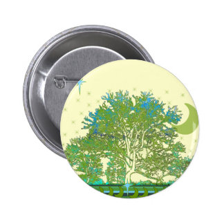 Tree Blues 2 Inch Round Button